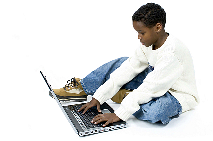 boy on laptop
