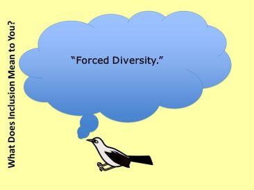 Forced Diversity. What Does Inclusion Mean to You?