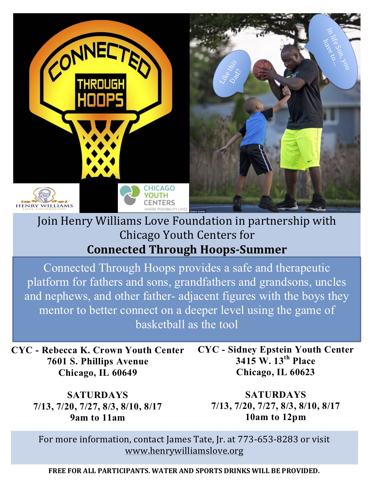 Connected Through Hoops-Summer – Henry Williams Love Foundation